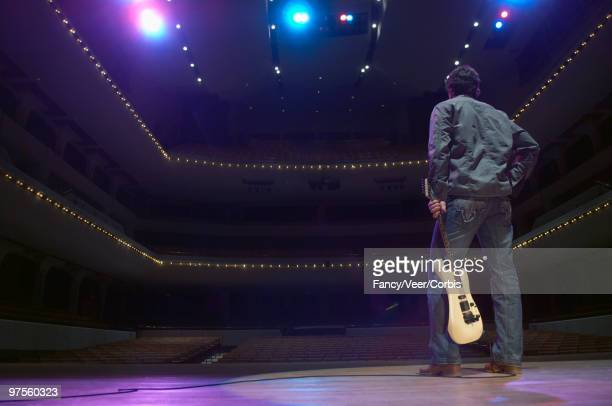 Rock star in an empty theater