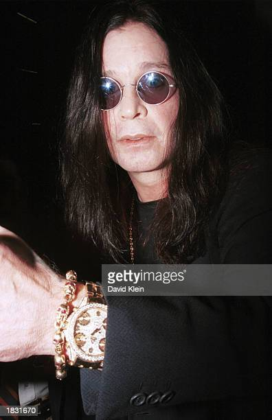 Rock star Ozzy Osbourne arrives at the CNN studios for an interview on the CNN show Larry King Live on March 3 2003 in Hollywood California Osbourne...
