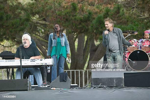 Rock stars Michael McDonald and Kenny Loggins perform in outdoor concert in Ventura California for the Ventura Hillsides Conservancy and the Ventura...