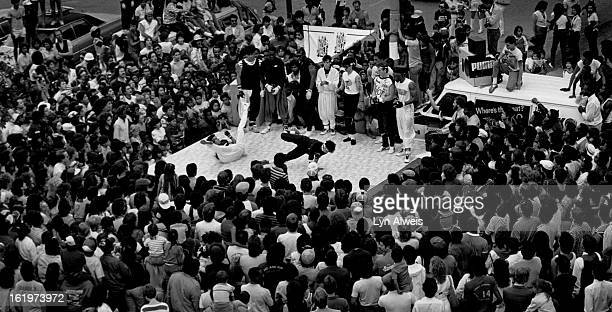 JUN 1984 JUN 9 1984 Rock Steady Crew a Breakdance Group featured in the movie Beat Street and Flashdance appeared at an exhibition on the 16th St...
