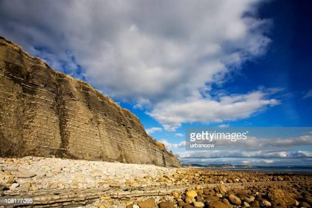 estrato de roca - lyme regis fotografías e imágenes de stock