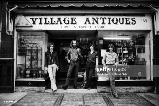 Rock supergroup Blind Faith pose for a portrait in July 1969 near Olympic Studios in London Great Britain