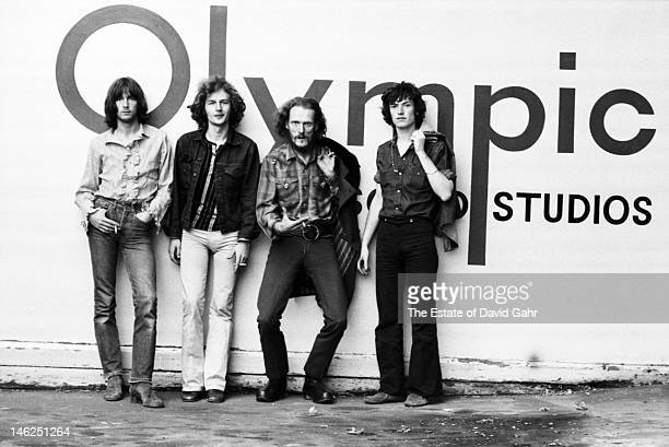 Rock supergroup Blind Faith pose for a portrait in July 1969 outside Olympic Studios in London Great Britain