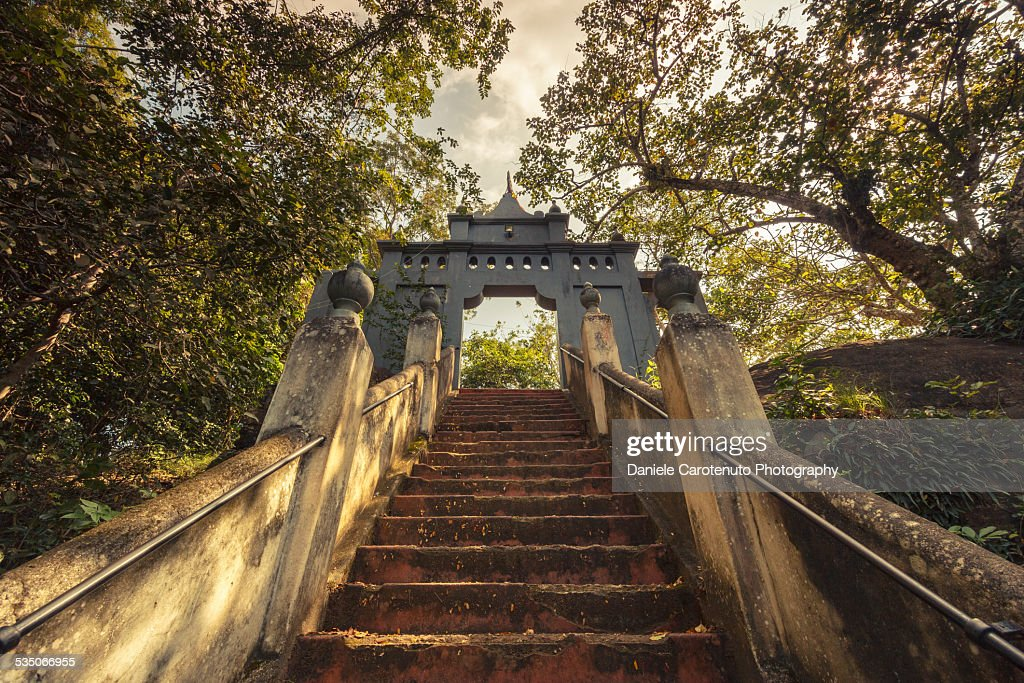 Rock Temple Staircase : Stock Photo