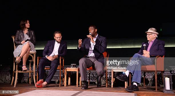 Rock the Vote Political and Field Director Sarah Audelo Black List Founder/CEO Franklin Leonard Tallahassee Mayor Andrew Gillum and producer Norman...
