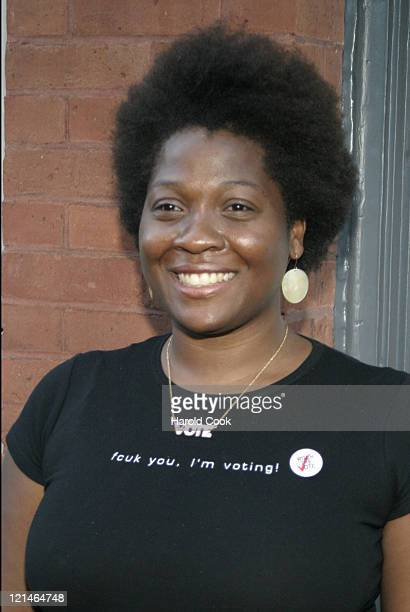 Rock the Vote President Jehmu Greene during FCUK I'm Voting Party at the GOP Convention at French Connection Soho in New York City New York United...