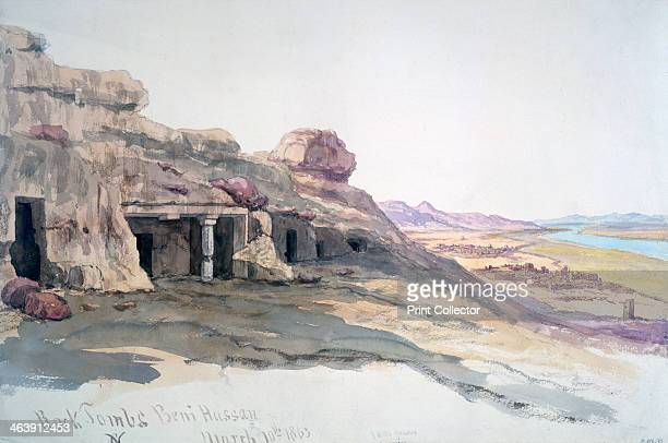 'Rock Tombs Beni Hassan 10 March 1863' Egypt 1863 From the collection of the Victoria and Albert Museum London