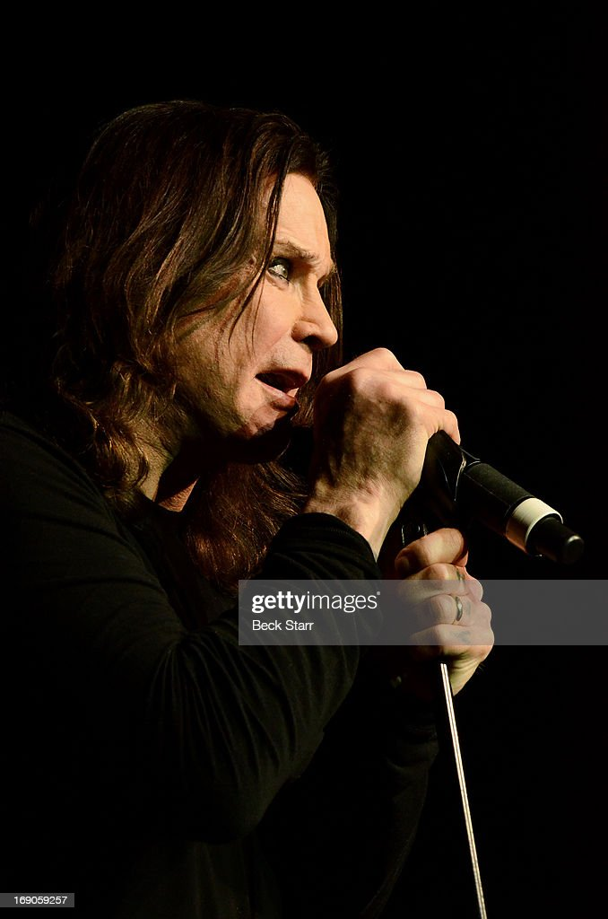 Rock vocalist Ozzy Osbourne performs at the L.A. Gay & Lesbian Center's 2013 'An Evening With Women' gala at The Beverly Hilton Hotel on May 18, 2013 in Beverly Hills, California.