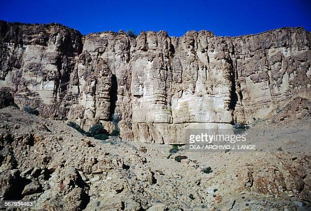 Rock wall Selja Gorges Metlaoui Tunisia