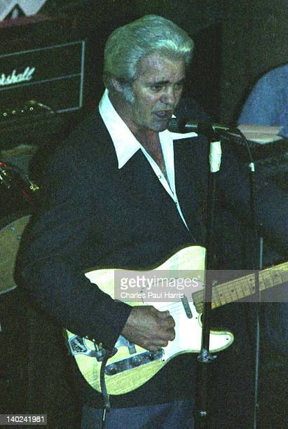 Rockabilly artist Charlie Feathers performs at The Royalty, on March 6, 1980 in Southgate, London, England.