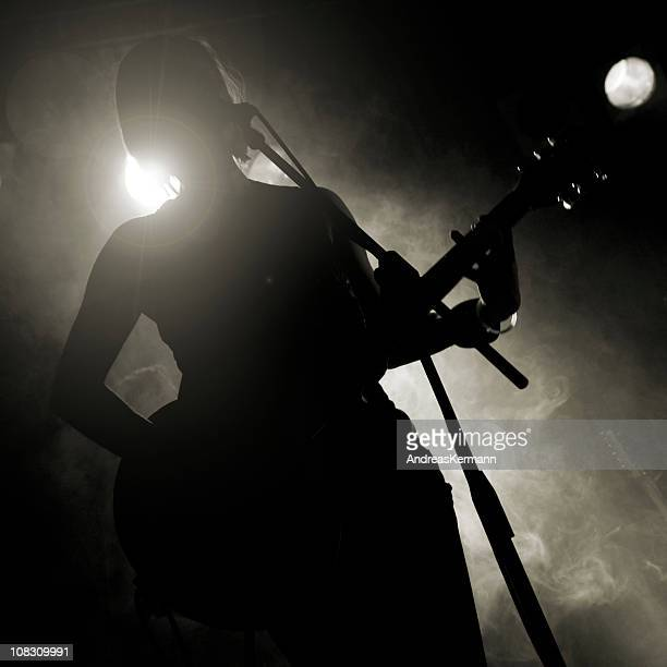 rockband singer - rock band stock photos and pictures