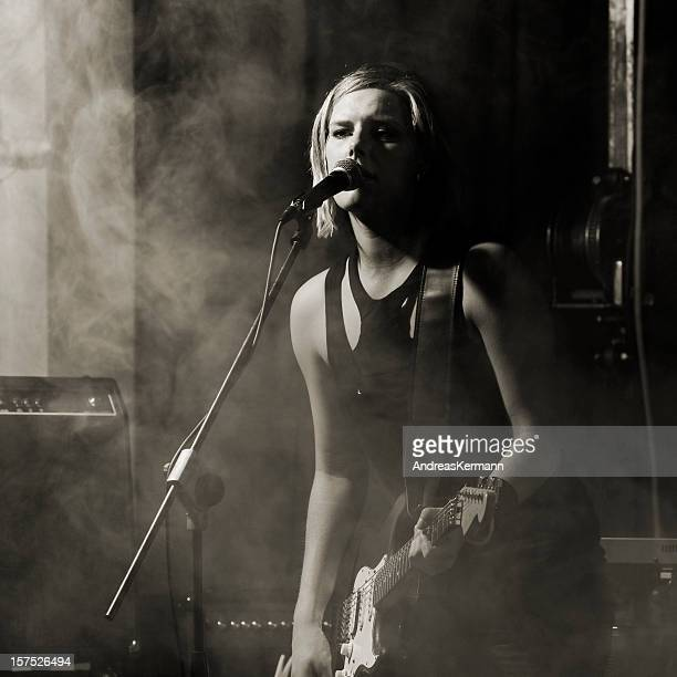 rockband singer - rock musician stock pictures, royalty-free photos & images
