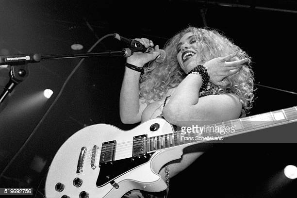Rockbitch, performs on March 2nd 1997 at the Drieluik in Zaandam, Netherlands. ,