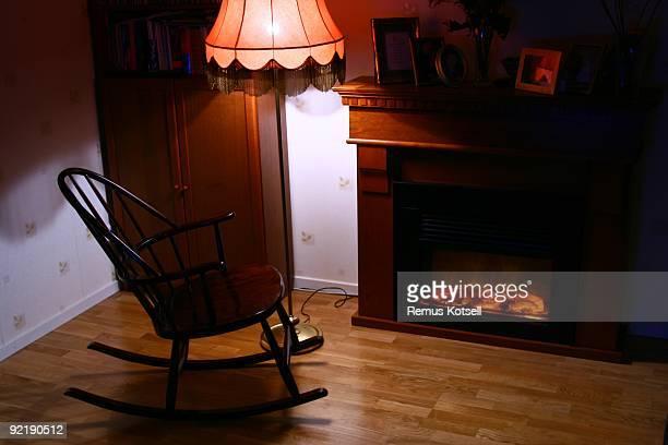 Rockchair と暖炉