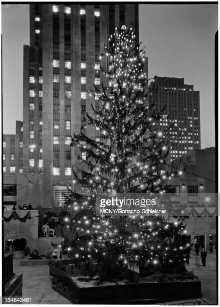 Rockefeller Center Inc 20 Rockefeller Plaza Christmas tree at night 1