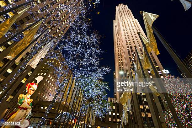 rockefeller center nyc # 12 xxl - new york city christmas stock photos and pictures