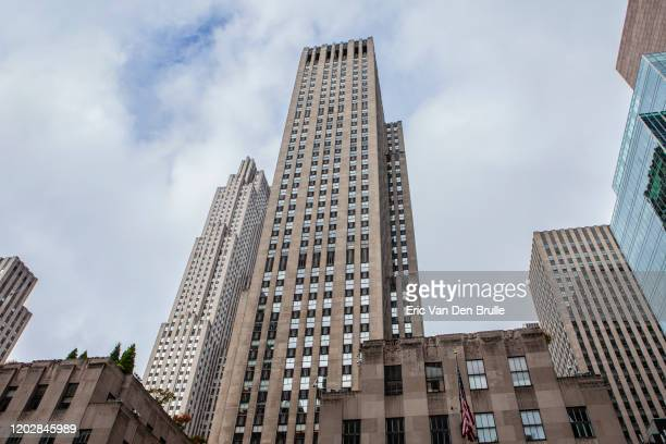 rockefeller center - eric van den brulle stock pictures, royalty-free photos & images