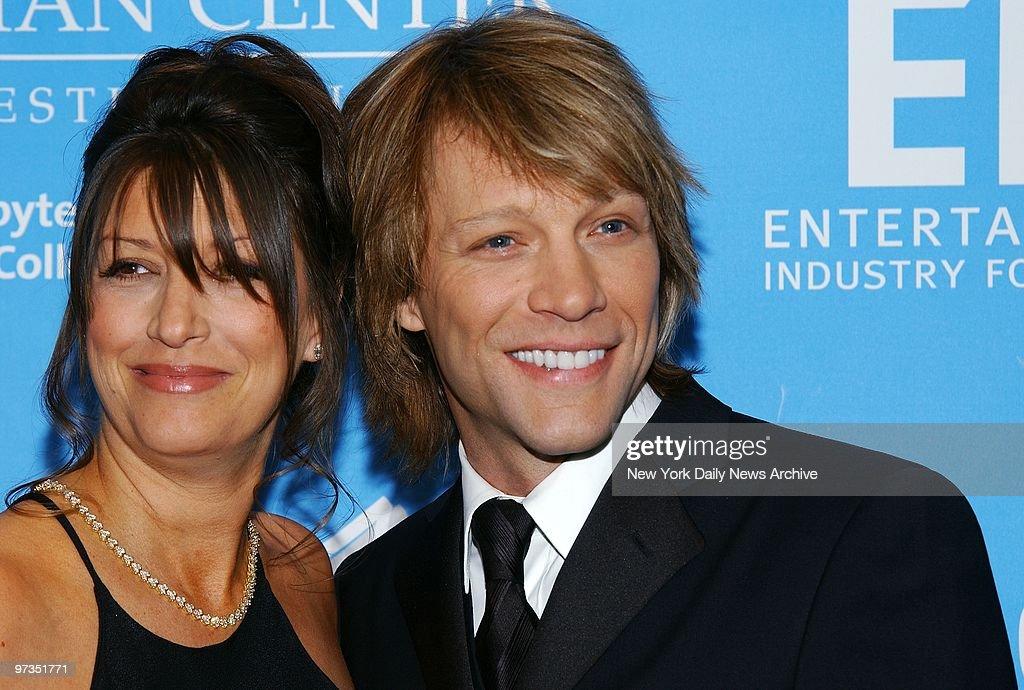 Rocker Jon Bon Jovi and wife Dorothea are on hand for a bash : News Photo
