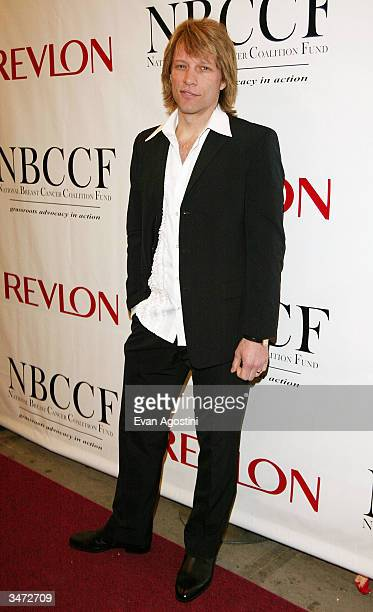 Rocker Jon Bon Jovi arrives at the National Breast Cancer Coalition and Revlon annual fundraising gala at the Manhattan Center Grand Ballroom April...