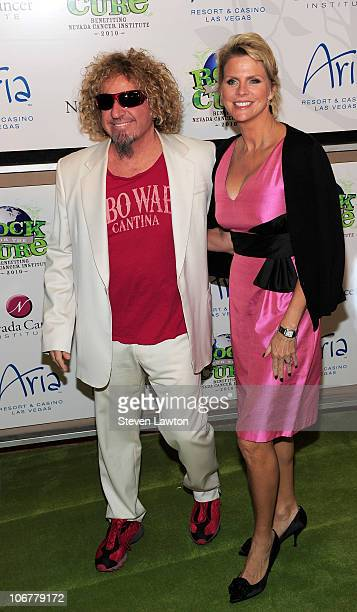 Rocker Sammy Hagar and wife Kari Hagar arrive at the NVCI's 9th annual Rock For The Cure Gala at ARIA Resort Casino at CityCenter on November 11 2010...
