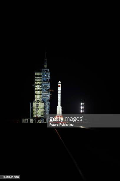 Rocket carrying Tiangong2 space laboratory part of Chinese space station program launched at the Satellite Launch Center on Septemver 15 2016 in...