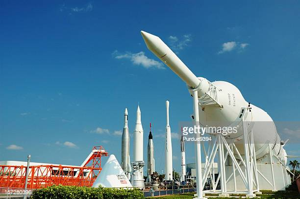 rocket garden at kennedy space center - nasa stock pictures, royalty-free photos & images