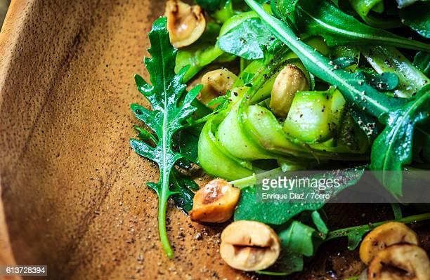 Rocket Leaf Detail in Aparagus Ribbon Salad