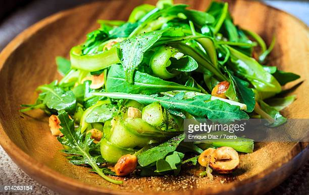 Rocket Leaf spear in Aparagus Salad