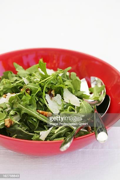 Rocket salad with walnuts and parmesan