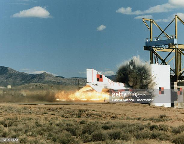 Rocket Sled Test of F-4 Phantom Jet