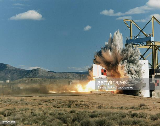 rocket sled test of f-4 phantom jet - crash test stock photos and pictures