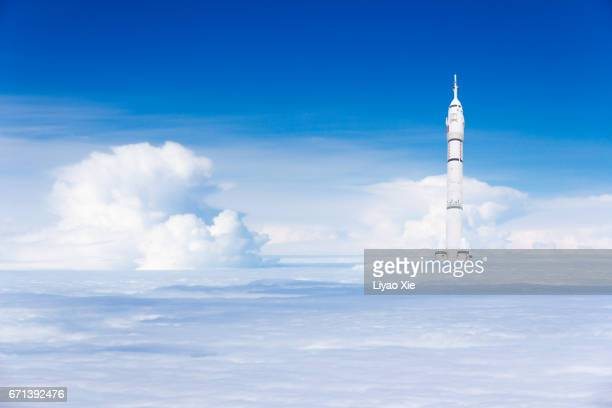 rockets rising up - liyao xie stock pictures, royalty-free photos & images