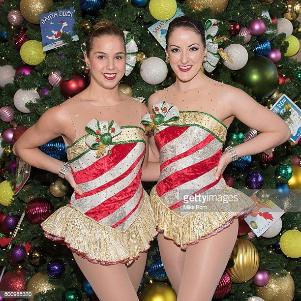 Rockettes Mindy Moeller and Alyssa Lemons attend The Morgan Stanley Children's Hospital Children's Hospital at New York Presbyterian Hospital on...