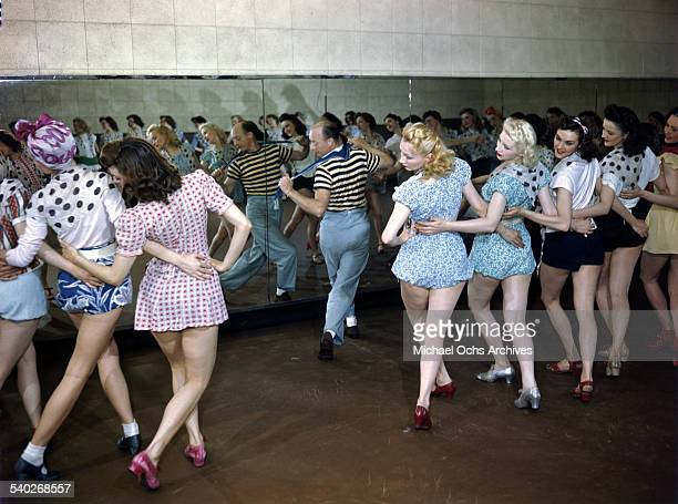 Rockettes' rehearsal hall called The Shredded Wheat Room for the appearance of the acoustical plaster on the walls and ceiling Here Russell Markert...