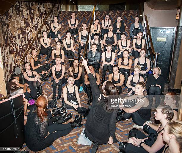 Rockettes rehearsing at the Hearts And Lights press preview at Radio City Music Hall on February 25 2014 in New York City