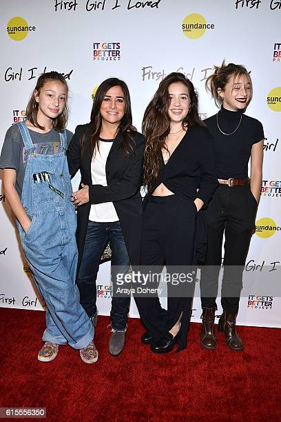 Rockie Adlon Pamela Adlon Gideon Adlon and Odessa Adlon attend the premiere of PSH Collective's First Girl I Loved at the Vista Theatre on October 18...