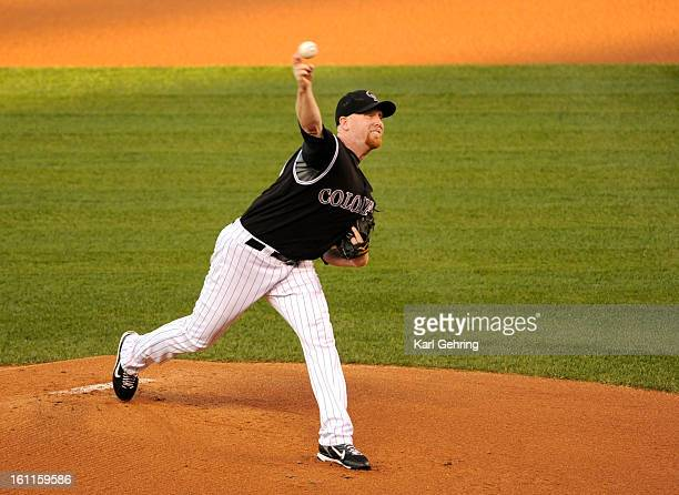 Rockies starter Aaron Cook delivered to the plate in the first inning The Colorado Rockies hosted the San Francisco Giants at Coors Field Friday...