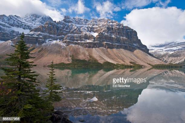 CANADIAN ROCKIES--Bow Lake and reflection of Mount Thompson, Banff National Park, Alberta, Canada