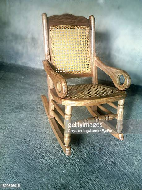Rocking Chair Against Wall At Home