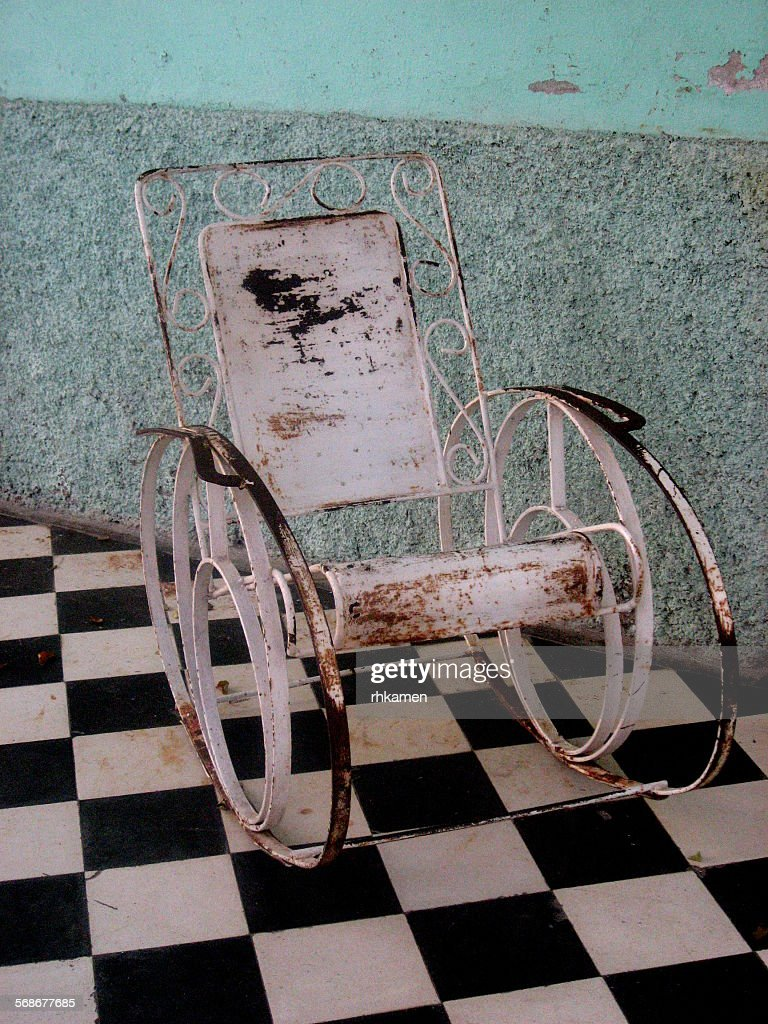 Rocking chair, Cienfuegos, Cuba : Stock Photo