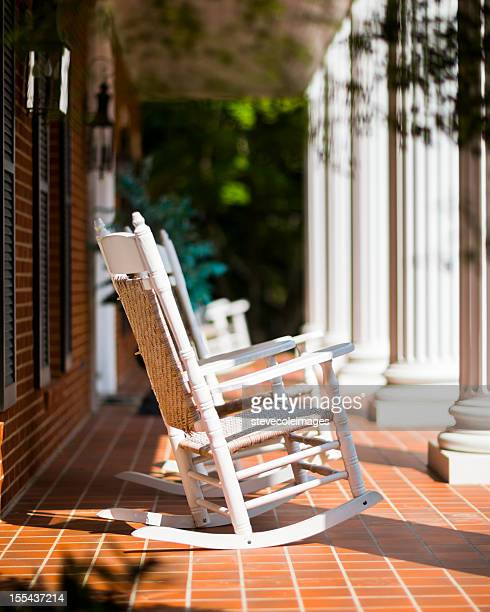 rocking chairs - antebellum stock photos and pictures