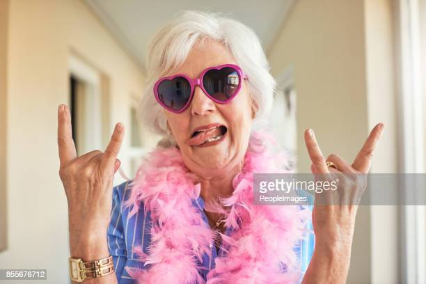 rocking her retirement - old lady funny stock pictures, royalty-free photos & images
