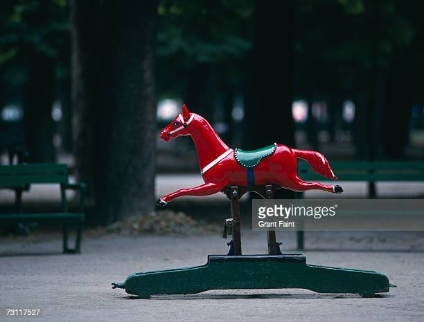 Rocking horse ride in park