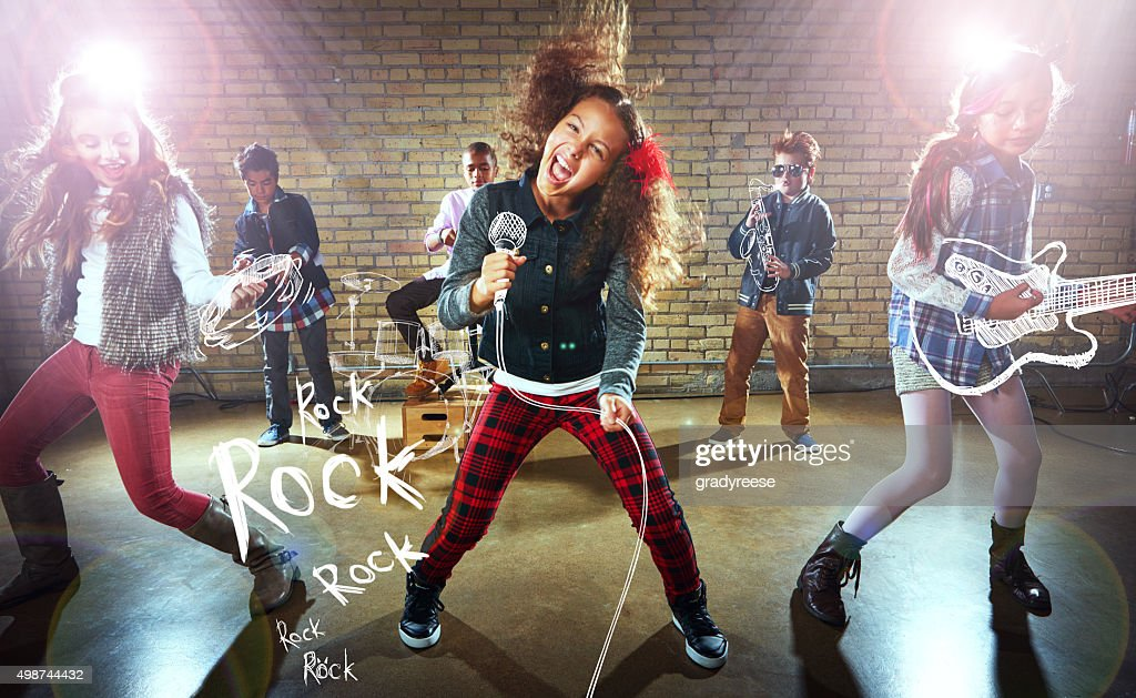Rocking it out! : Stock Photo