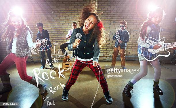 rocking it out! - stars and strings stock photos and pictures