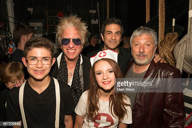 Rockit Live musicians Robert Grande and Ava DiLouie backstage with Ricky Byrd Rockit Live founder Bruce Gallipani and Bobby Bandiera at Count Basie...
