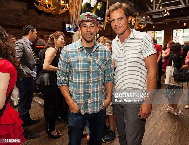 """Rockit Ranch CEO Billy Dec and actor Michael Shannon attend the """"Man Of Steel"""" Benefit Screening Reception at Rockit Bar & Grill on June 22, 2013 in..."""