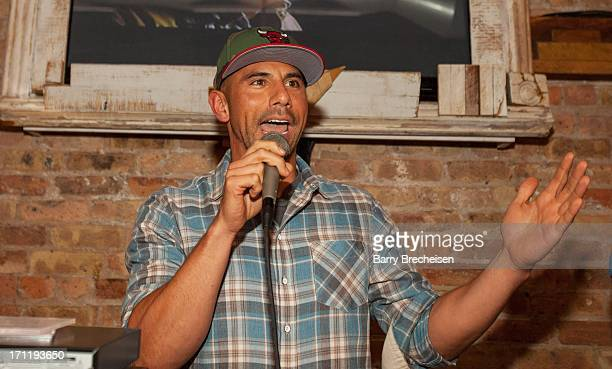 """Rockit Ranch CEO Billy Dec attends the """"Man Of Steel"""" Benefit Screening Reception at Rockit Bar & Grill on June 22, 2013 in Chicago, Illinois."""