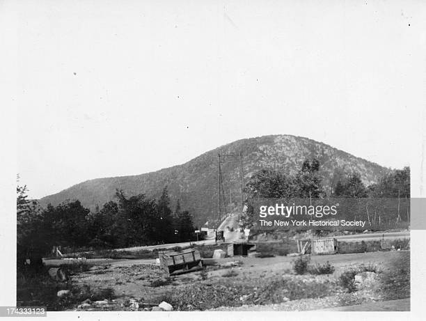 view of Bear Mountain Bridge Rockland County New York July 1925