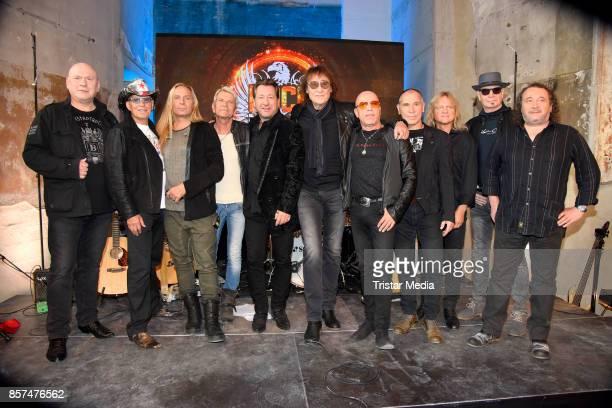 Rocklegenden Claudius Dreilich Matthias Reim Dieter Maschine Birr and Toni Krahl during the Rock Legenden Press Conference at Secret Garden on...